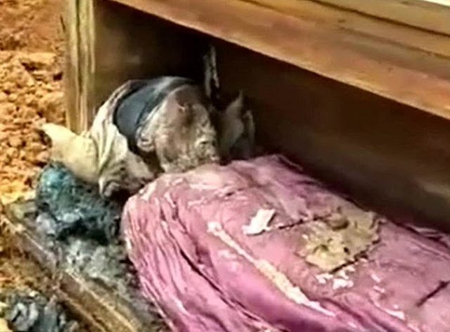 Centuries-old well-preserved corpse covered in fine cloth discovered in China