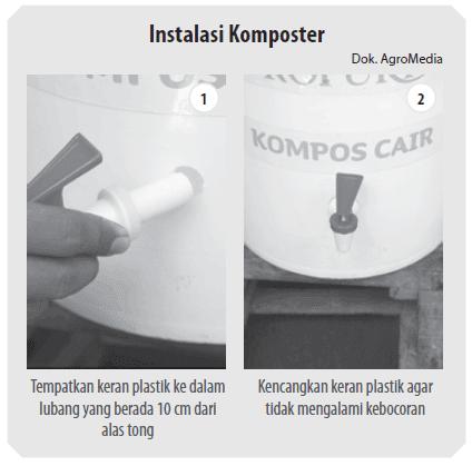 instalasi pembuatan komposter pupuk organik