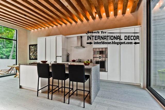 modern kitchen ceiling designs ideas lights, wood ceiling beams for kitchen