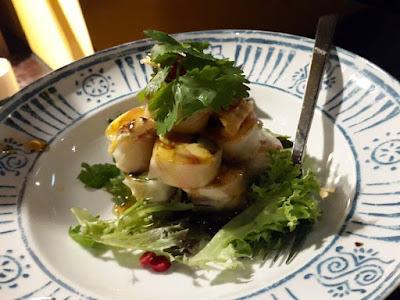 Seasoned scallops at Chat Thai Sydney Australia