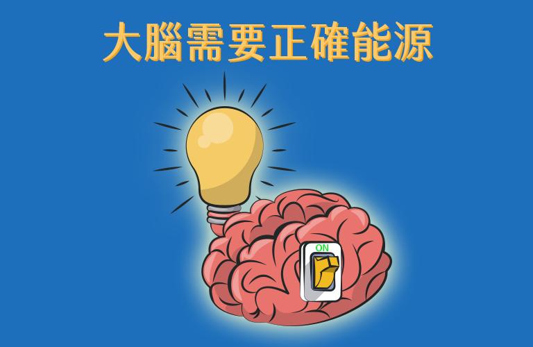 大腦需要正確能源