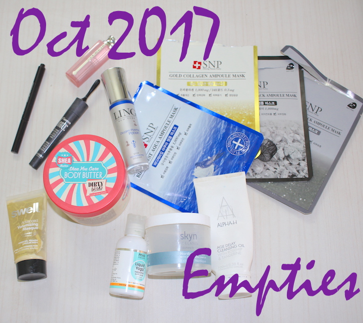 Beauty Products Used Up in October 2017