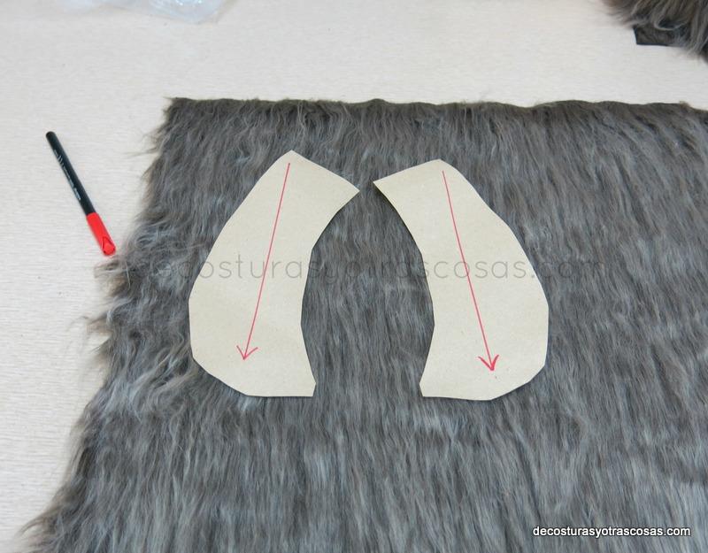 como cortar un cuello de piel con pelo