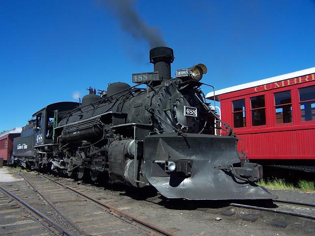 Vieux train à vapeur à Chama