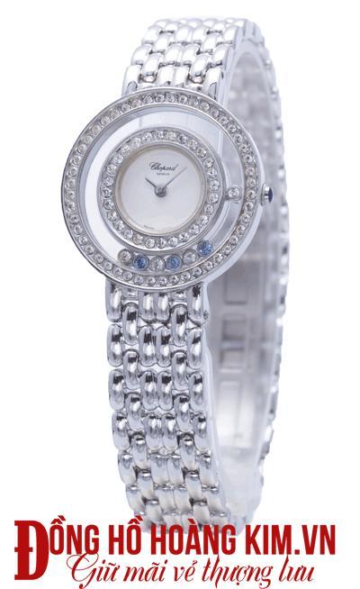đồng hồ nữ chopard dây sắt đính đá