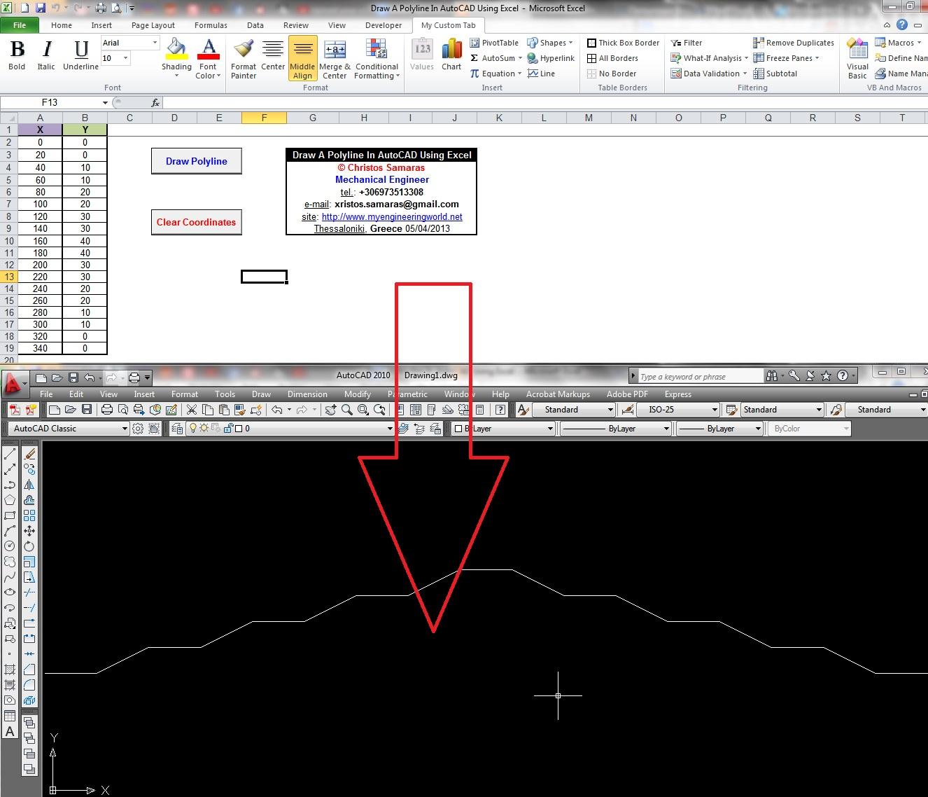 Excel Vba Get Cell X Y Coordinates