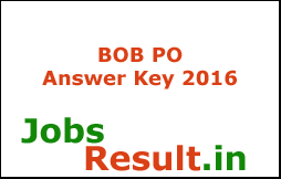 BOB PO Answer Key 2016