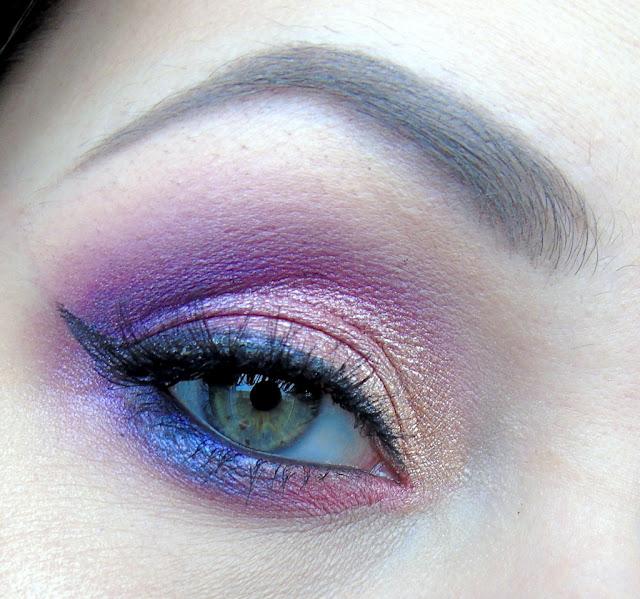 Fiolotowo różowy makijaż na przełamanie zimy :)