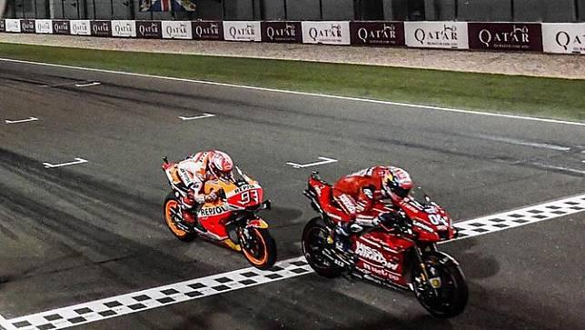 Faktor Marquez Membuat Kemenangan Dovizioso di MotoGP Qatar Terasa Istimewa