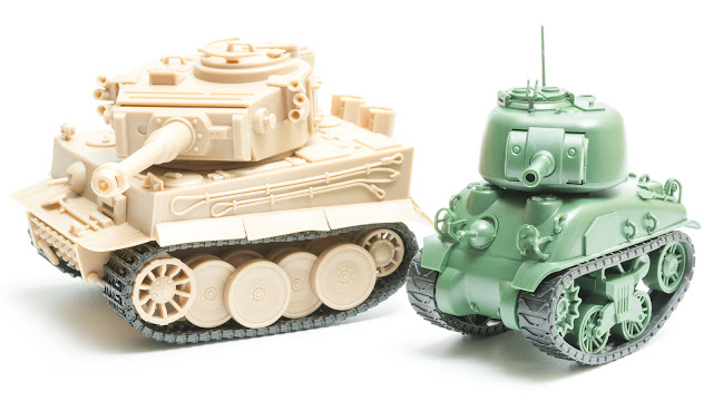 Wargame News And Terrain Meng Model World War Two Cartoon Sherman And Tiger Tanks