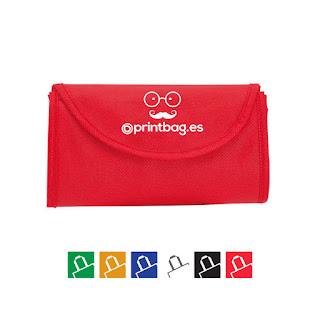 Bolsas plegables baratas rojas