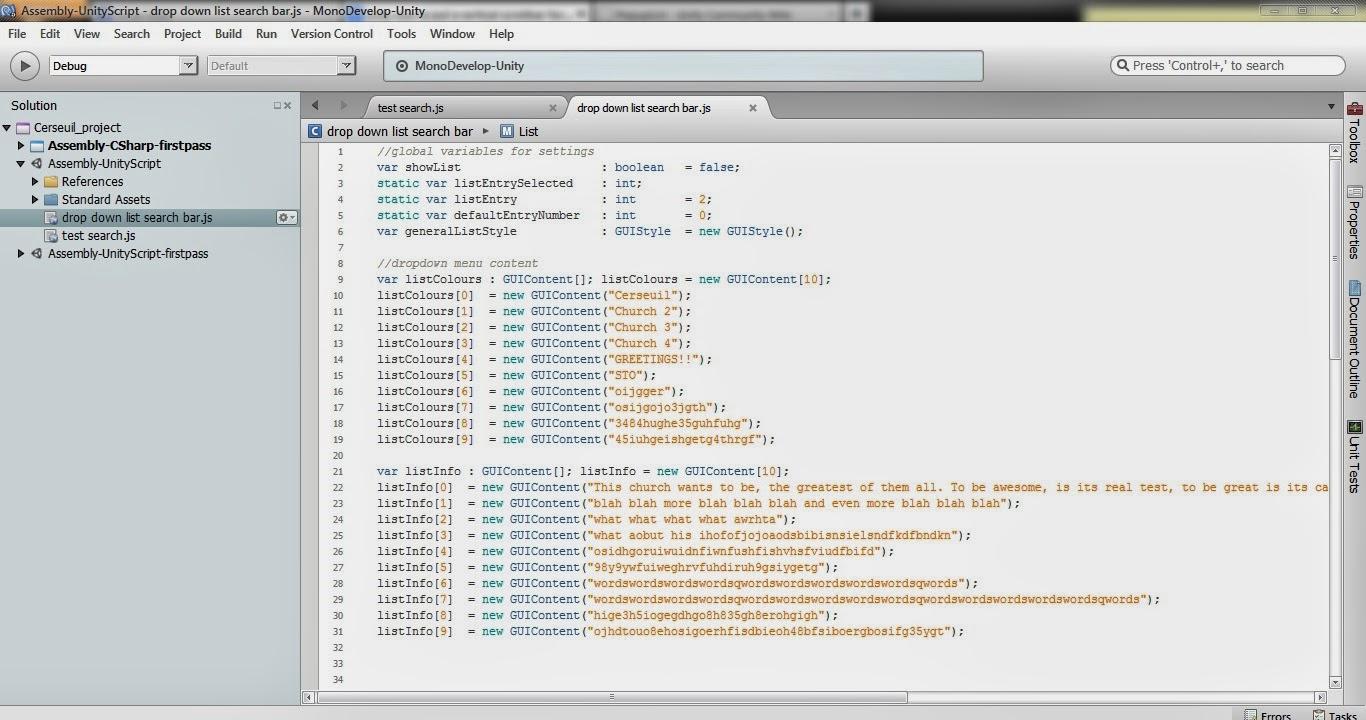 ARCH1392 - David Le: Search bar scripting