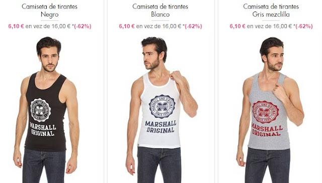 camisetas tirantes hombre