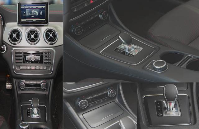 Tựa tay Mercedes AMG GLA 45 4MATIC 2017 được thiết kế nổi bật với rất nhiều tiện ích