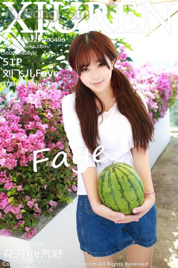 XIUREN No.490: Người mẫu Faye (刘飞儿) (52 ảnh)