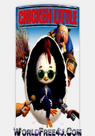 Poster Of Free Download Chicken Little 2005 300MB Full Movie Hindi Dubbed 720P Bluray HD HEVC Small Size Pc Movie Only At worldfree4u.com