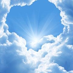 A Picture of Heaven - a Blue and White Sky