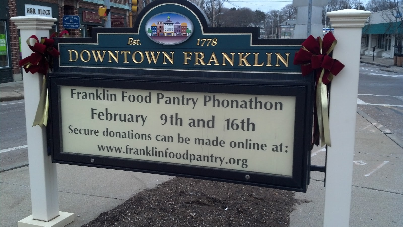 Franklin Matters Food Pantry Phone A Thon Feb 16th