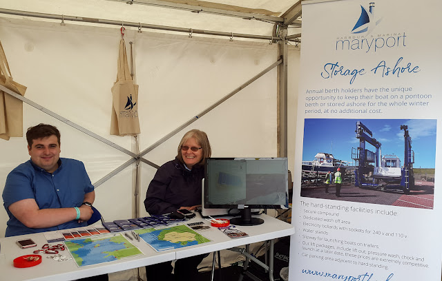 Photo of the Maryport Marina stand
