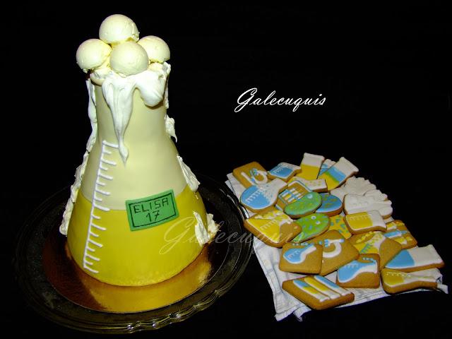 Tarta y galletas laboratorio