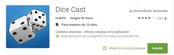 Dice Cast