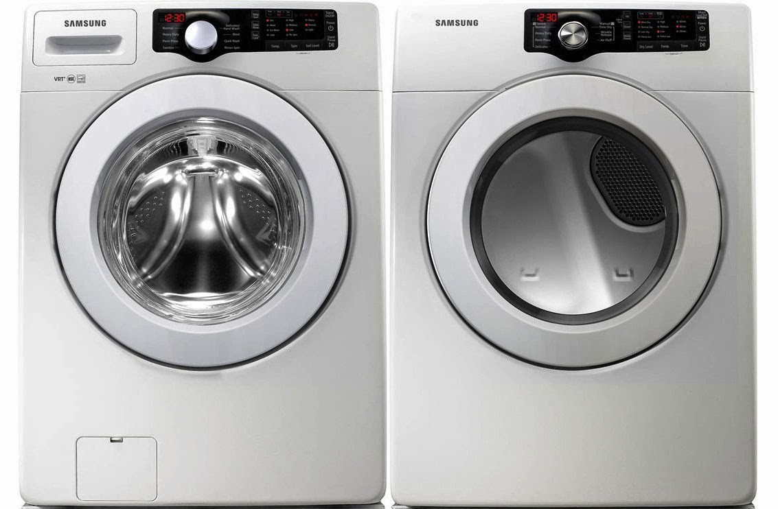 White 3 6 Cf Doe Front Load Washer Samsung Dryer Combo