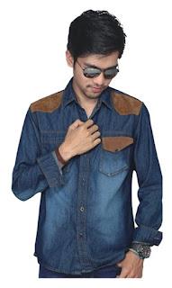 kemeja jeans blue, kemeja jeans pria, kemeja jeans terbaru