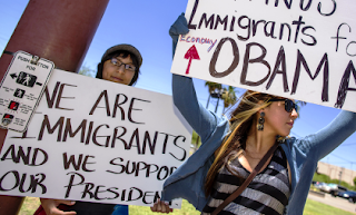 Illegals Support Obama