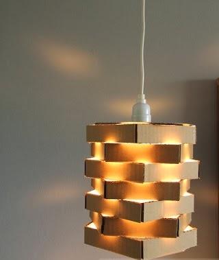 Cara Membuat Lampu Gantung Dari Kardus Bekas
