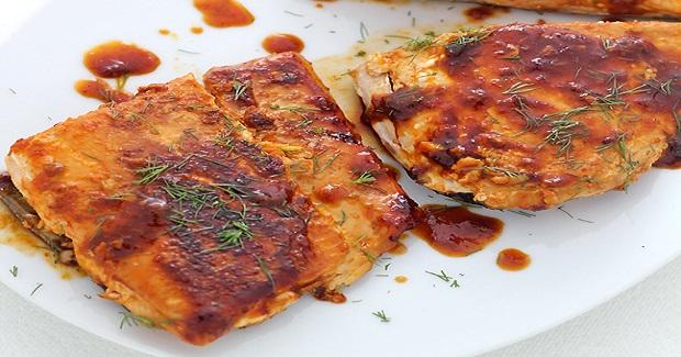 """Hot Wing"" Salmon Recipe"