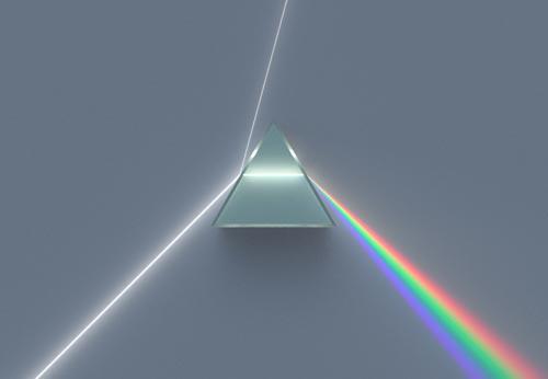dispersi cahaya pada prisma optik