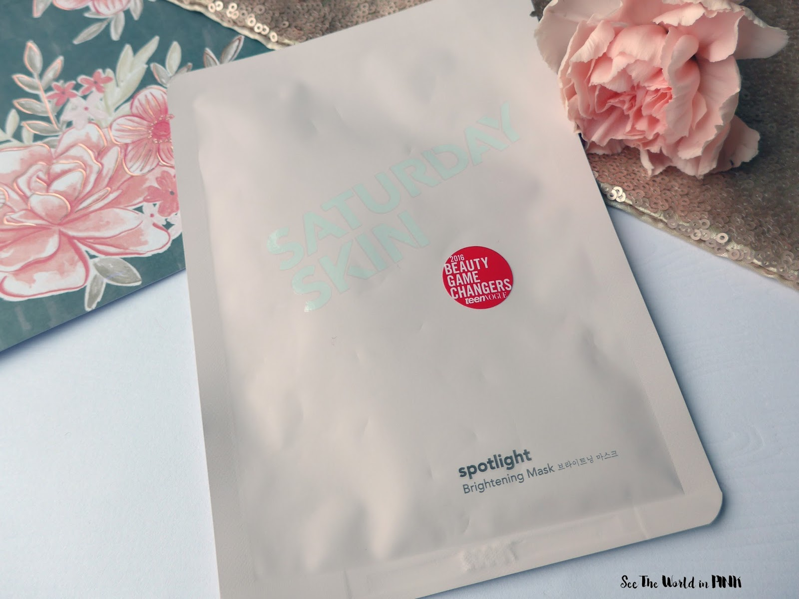 Mask Wednesday - Saturday Skin Spotlight Brightening Mask Try-on and Review!