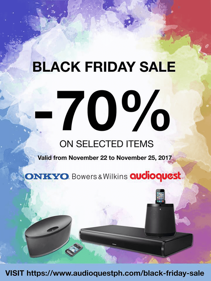 Black Friday Sale with up to 70% off!