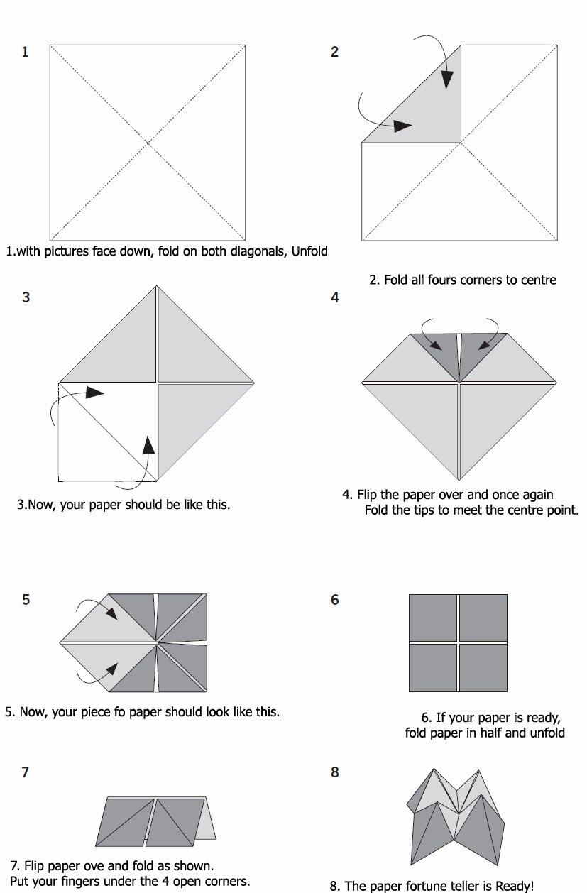 How to Make a Paper Fortune Teller Instruction Sheet (SB12405 ... | 1258x827