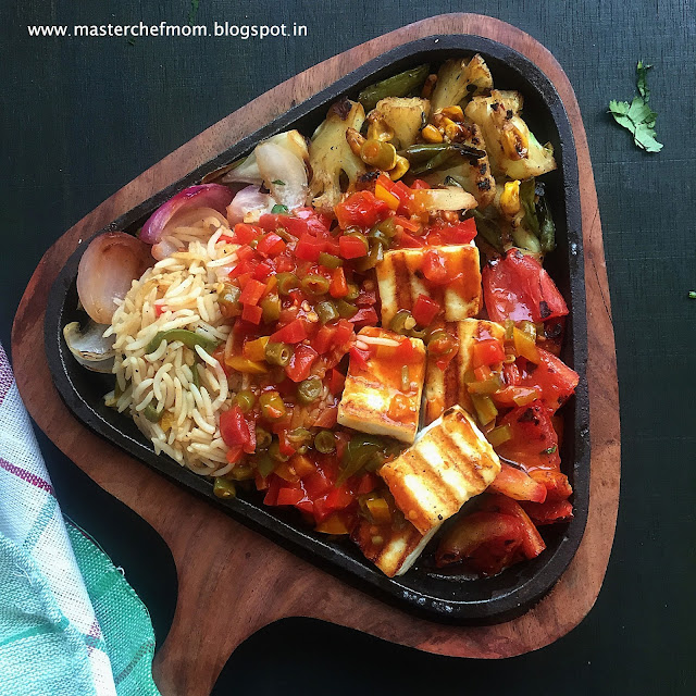 Paneer Sizzler in Chilli Garlic Sauce