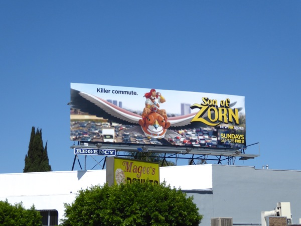 Son of Zorn season 1 Killer commute billboard