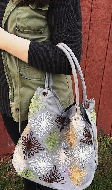 #ShineBright hand embroidered tote in #WVGiftCatalog #ad