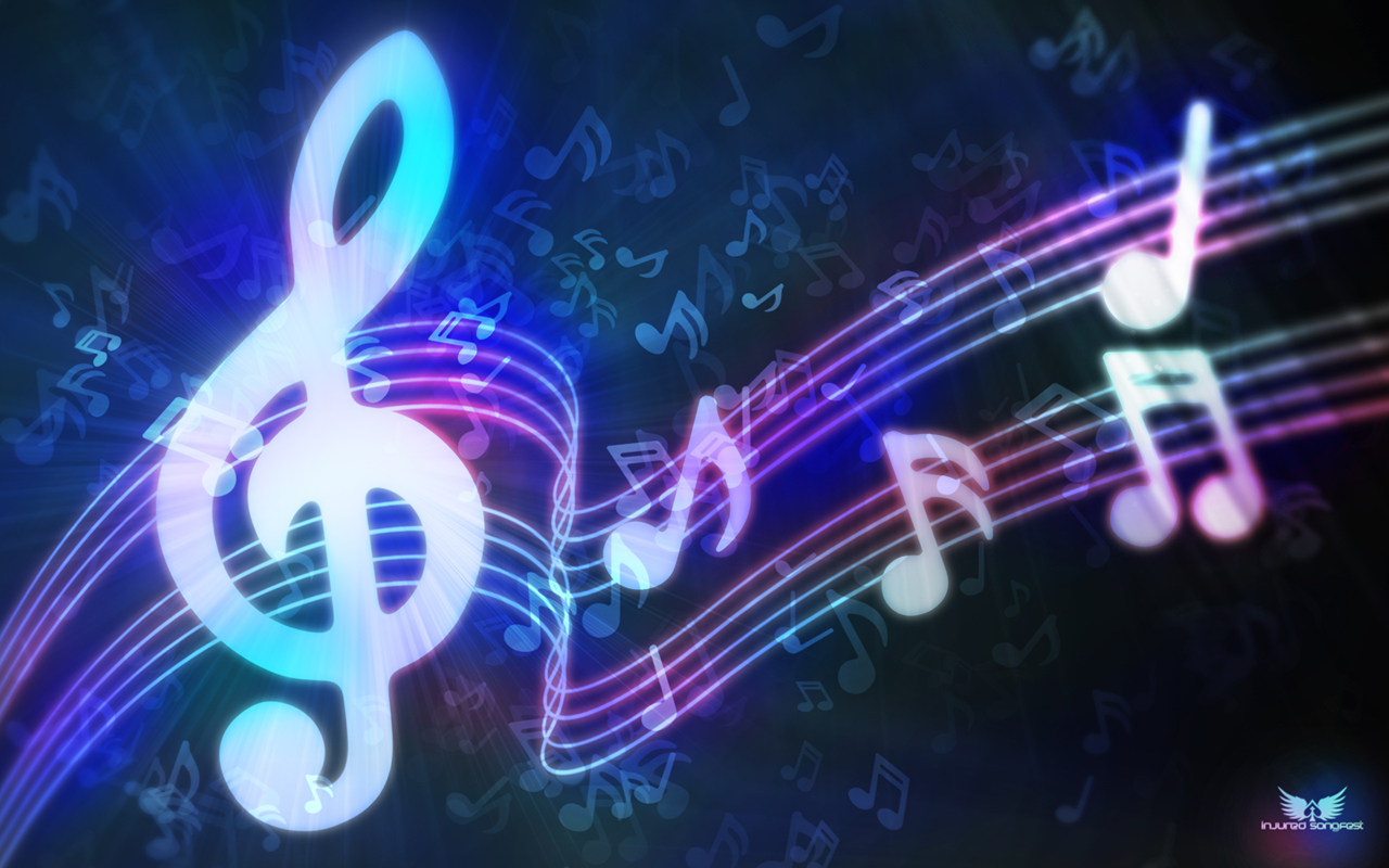 Neon Music Notes Wallpaper: Wallpapers!: Music Wallpapers