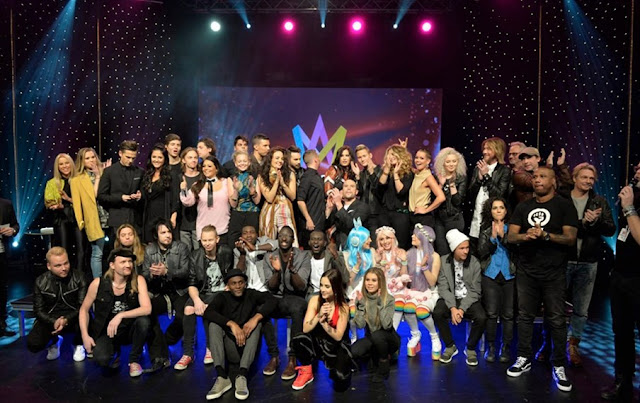 Participantes del Melodifestivalen 2016 (Photo: Pelle T Nilsson)