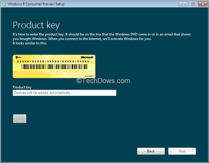 windows 8 release preview activation key