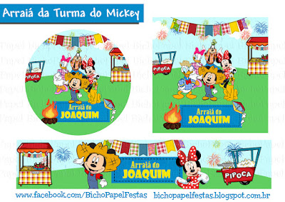 Kit Festa Arraiá da Turma do Mickey festa junina