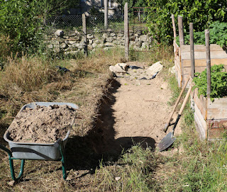 Making good progress on the path trench though