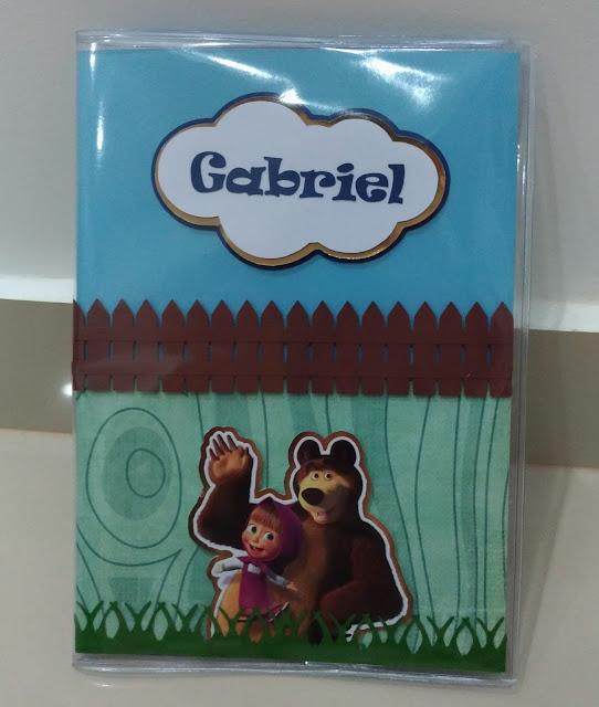 Capa para carteira de vacinação Masha e o Urso