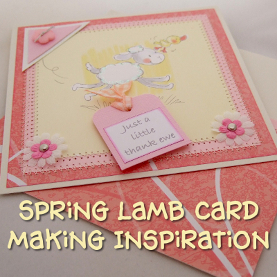 lamb sheep spring card making scrapbooking ideas