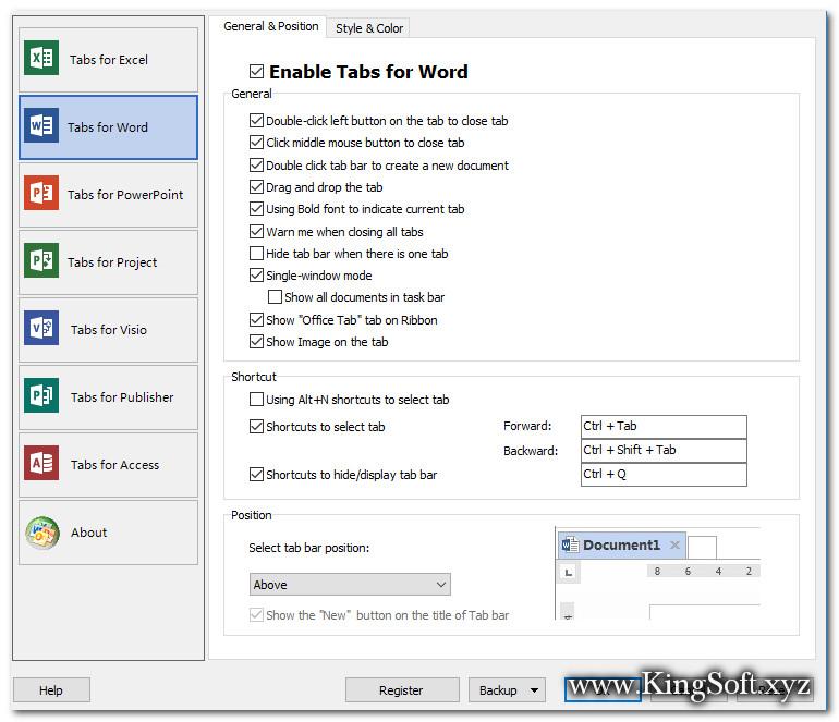 Dowwnload Office Tab 13.10 Full 32 and 64 Bit, Phần mềm hỗ trợ mở Office dưới dạng Tab.