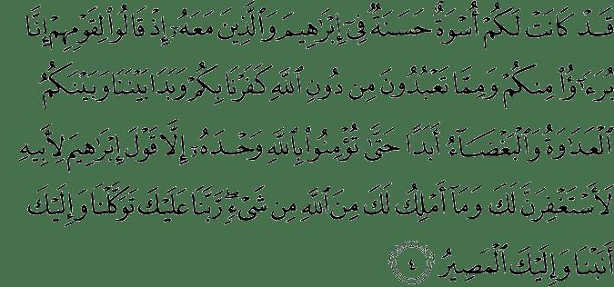 Surat Al Mumtahanah Ayat 4