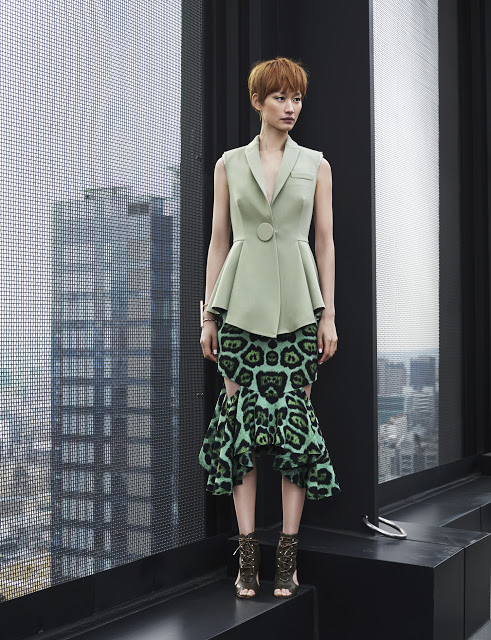 Resort 2016 Givenchy Mermaid Skirt Suit Editorials