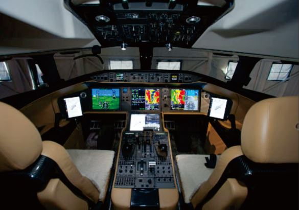 Bombardier Global 8000 cockpit
