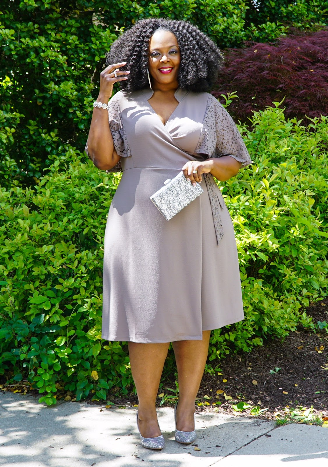 Big Bella Donna Charm Wrap Dress