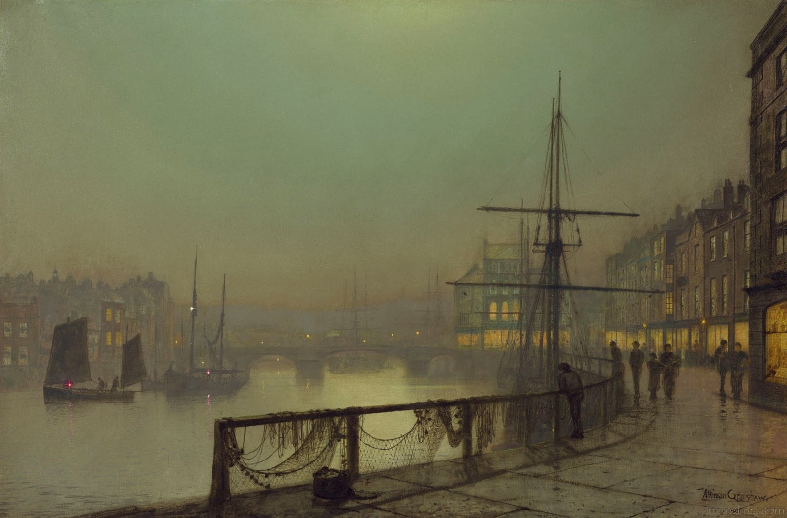 American Paint And Wallpaper Fall River Victorian British Painting John Atkinson Grimshaw Final Set